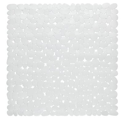 Conesville Stall Pebbles Vinyl Shower Mat Color: White