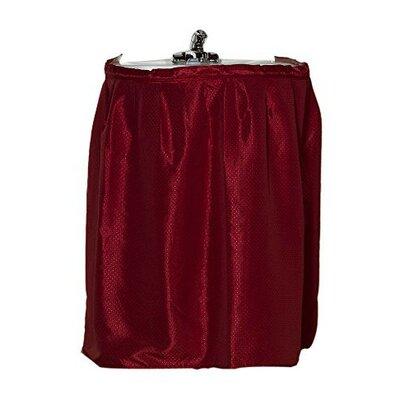Parish Diamond-Piqued 100% Polyester Bath Rug Color: Burgundy