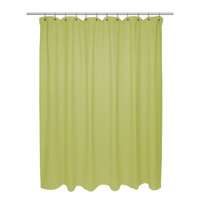 Chevron Weave 100% Cotton Shower Curtain Size: 84 H x 72 W, Color: Citron