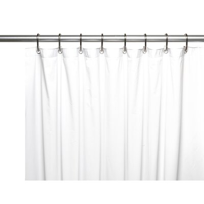 Special Sized 10 Gauge Vinyl Shower curtain/ Liner Size: 72 H x 48 W x 0.1 D, Color: White