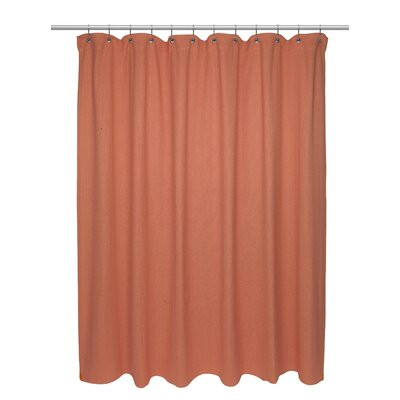 Chevron Weave 100% Cotton Shower Curtain Size: 72 H x 72 W, Color: Burnt Coral