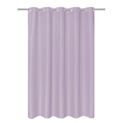 Mahler Waffle Weave Vinyl Shower Curtain Color: Lilac