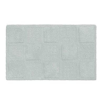 Waffle Weave 100% Cotton Bath Rug Color: Spa Blue