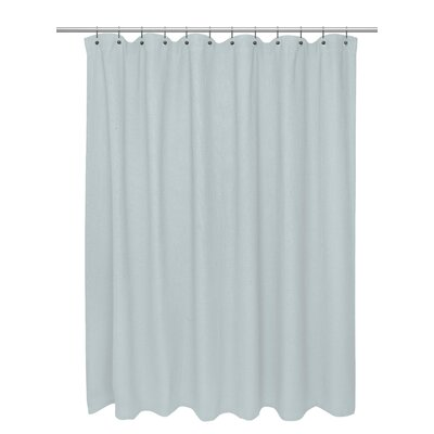 Waffle Weave 100% Cotton Shower Curtain Size: 72 H x 72 W, Color: Spa Blue