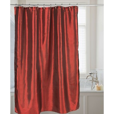 Easton Shimmer Faux Silk Shower Curtain Color: Ruby