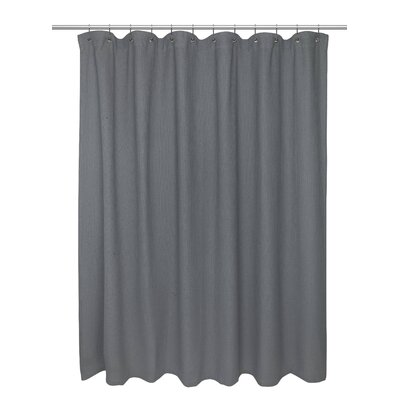 Waffle Weave 100% Cotton Shower Curtain Size: 72 H x 72 W, Color: Pewter