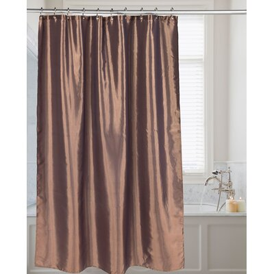 Shimmer Faux Silk Shower Curtain Color: Bronze