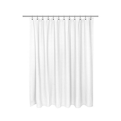 Waffle Weave 100% Cotton Shower Curtain Color: White, Size: 84 H x 72 W