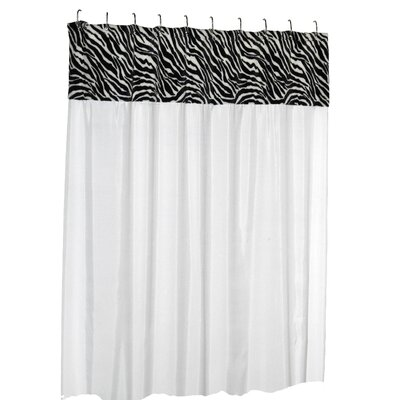 Contreras Serengeti Faux Fur-Trimmed Shower Curtain