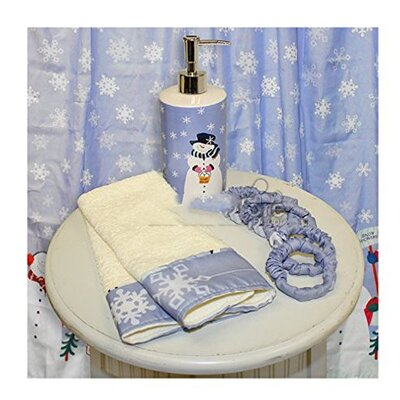 Let it Snow Resin Shower Curtain Set
