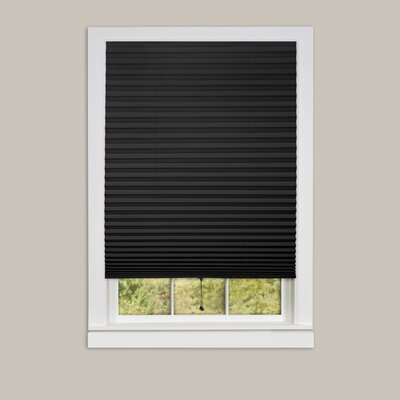 Room Darkening Window Pleated Shade Blind Size: 48 W x 75 L, Finish: Black