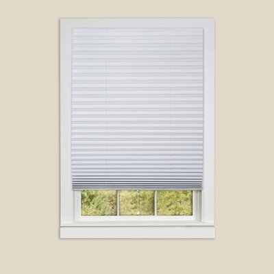 Room Darkening Window Pleated Shade Blind Size: 48 W x 75 L, Finish: White