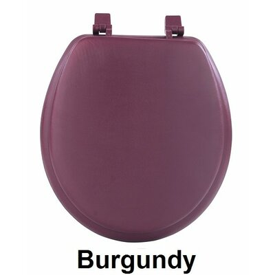 Fantasia 17 Soft Standard Vinyl Round Toilet Seat Finish: Burgundy