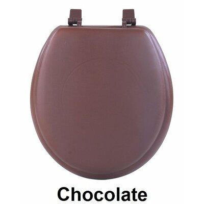 Fantasia 17 Soft Standard Vinyl Round Toilet Seat Finish: Chocolate