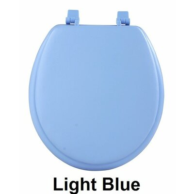 Fantasia 17 Soft Standard Vinyl Round Toilet Seat Finish: Light Blue