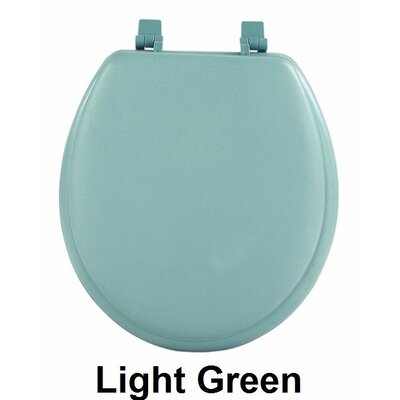 Fantasia 17 Soft Standard Vinyl Round Toilet Seat Finish: Light Green