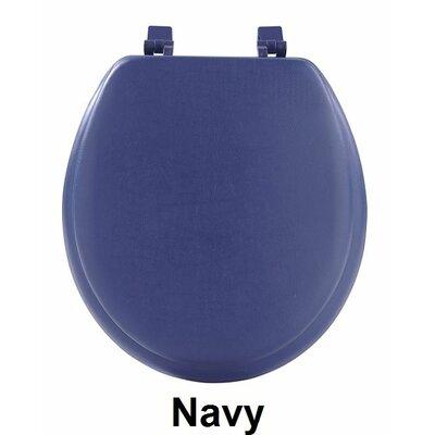 Fantasia 17 Soft Standard Vinyl Round Toilet Seat Finish: Navy