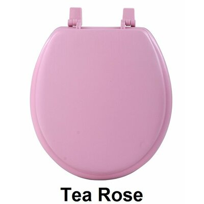 Fantasia 17 Soft Standard Vinyl Round Toilet Seat Finish: Tea Rose