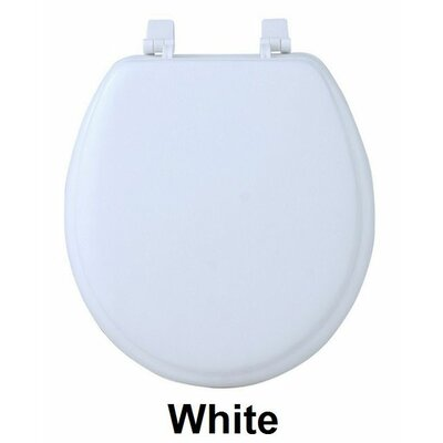 Fantasia 17 Soft Standard Vinyl Round Toilet Seat Finish: White