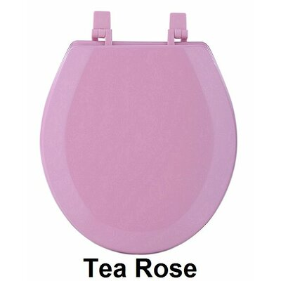 Fantasia 17 Standard Wood Round Toilet Seat Finish: Tea Rose