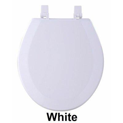 Fantasia 17 Standard Wood Round Toilet Seat Finish: White