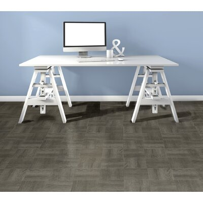 Nexus Wood Self Adhesive 12 x 12 x 1.2mm Vinyl Tile in Charcoal Gray