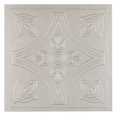 Metallo Self Adhesive 4 x 4 x 1.5mm Vinyl Tile in Silver