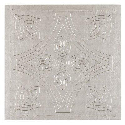 Metallo Self Adhesive 4 x 4 x 1.5mm Vinyl Tile in Silver