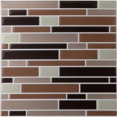 Magic Gel 9.13 x 9.13 x 3.18mm Self Adhesive Vinyl Tile in Beige