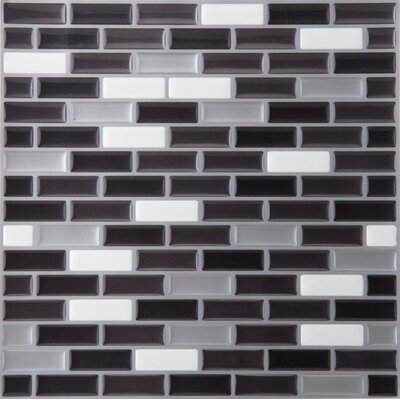 Magic Gel 9.13 x 9.13 x 3.18mm Self Adhesive Vinyl Tile in Silver/Black