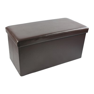 Coda Rossa Collapsible Storage Ottoman Upholstery: Brown