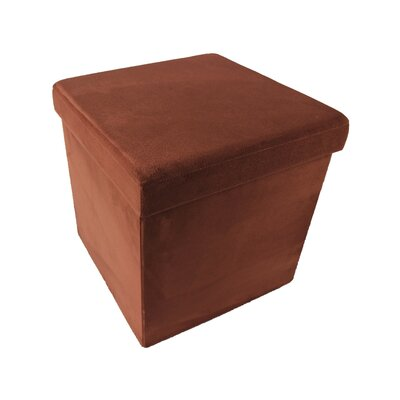 Durham Collapsible Storage Ottoman Upholstery: Brick