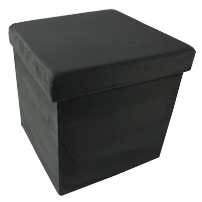 Durham Collapsible Storage Ottoman Upholstery: Charcoal