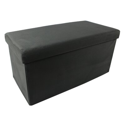 Court Avenue Collapsible Storage Ottoman Upholstery: Charcoal