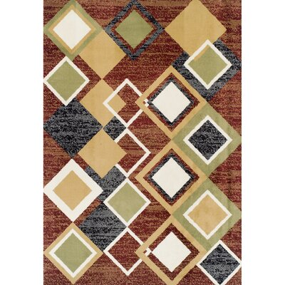 Angelyn Argyle Brown/Beige Area Rug