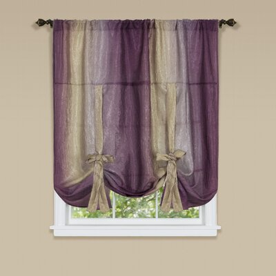 Aldreda Window Tie Up Shade Color: Aubergine