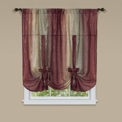 Aldreda Window Tie Up Shade Finish: Blue