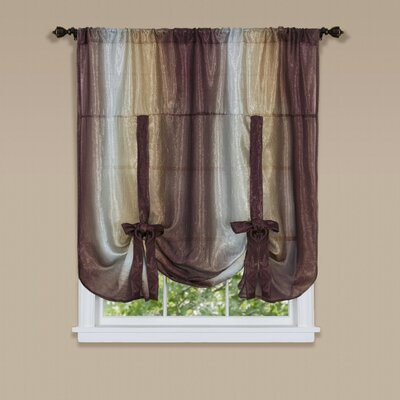 Aldreda Window Tie Up Shade Color: Chocolate