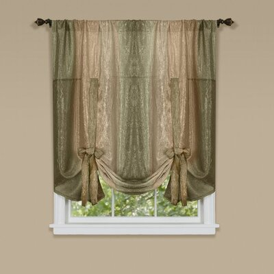 Aldreda Window Tie Up Shade Finish: Chocolate
