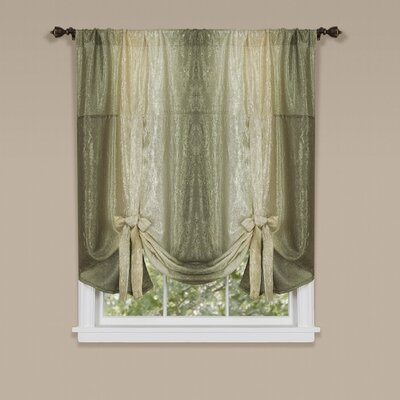 Aldreda Window Tie Up Shade Finish: Earth
