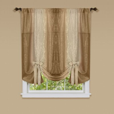 Aldreda Window Tie Up Shade Color: Sandstone