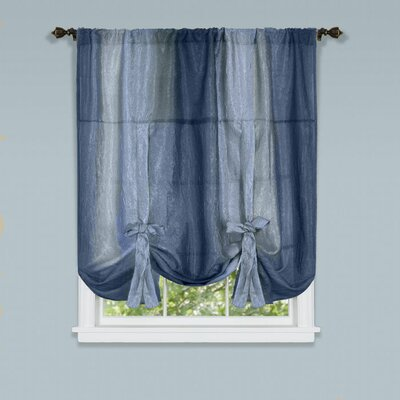 Aldreda Window Tie Up Shade Color: Blue