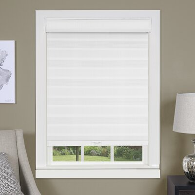 Cordless Double Layered Window Pleated Shade Blind Size: 36 W x 72 L