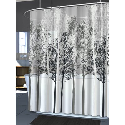 Circletree Forest Shower Curtain Color: Gray