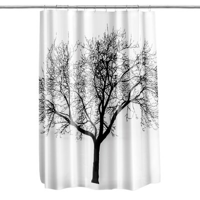 Circletree Tree of Life Shower Curtain Color: Black
