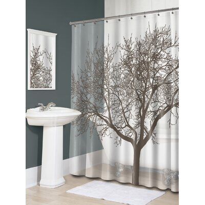 Circletree Tree of Life Shower Curtain Color: Mocha