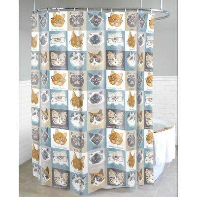 Chacon Cats with Glasses Shower Curtain