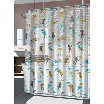 Marcy Raining Cats and Dogs Shower Curtain