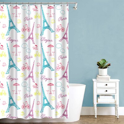 Royal Bath Bonjour Paris Fabric Shower Curtain