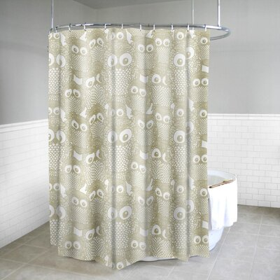Royal Bath Camouflaged Owl Fabric Shower Curtain